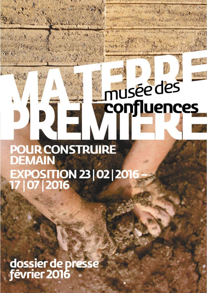 Affiche de l'exposition Ma terre première au musée des Confluences à Lyon en 2016