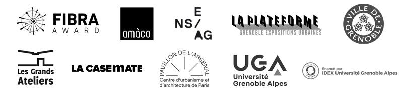Partenaires de l'exposition FIBRA, bâtir en fibres végétales présentée à Grenoble en 2020