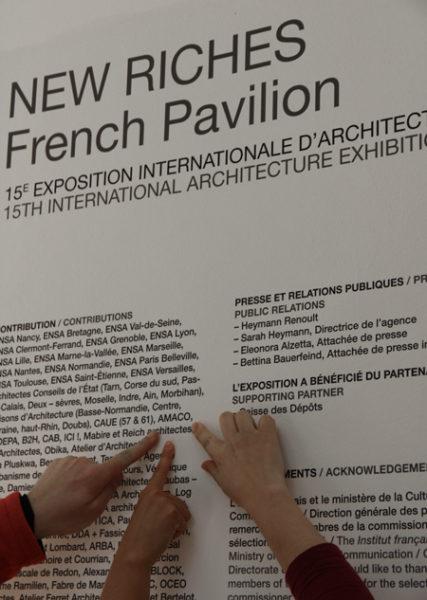 Le travail d'amàco exposé au Pavillon français de la Biennale de Venise